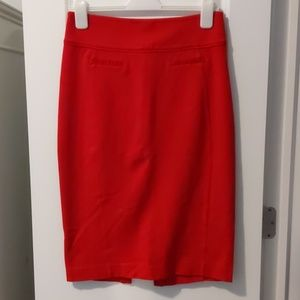 Express Red skirt, size 8
